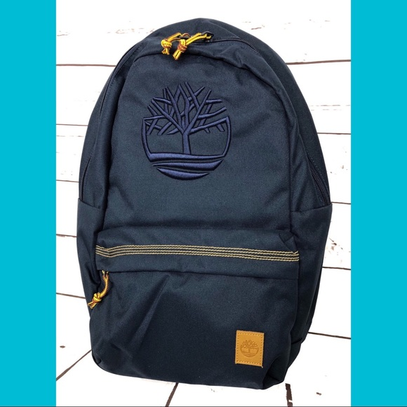 5a279c4fce Timberland Bags   Navy Embroidered Logo Backpack Bag New   Poshmark